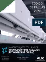 CODIGOS DE FALLA AUX  RESIDENCIAL 2020