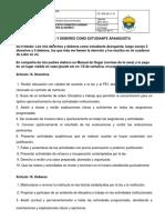 Derechos y deberes del estudiante Aranguista