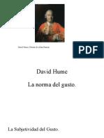 David Hume, Norma del gusto