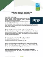 Die deutsche Bewerbung um den Ryder Cup 2018 - Fragen und Antworten