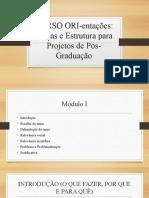 CURSO ORI-entações_Módulos em Slides