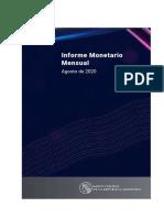 Informe Monetario Agosto 2020 del BCRA