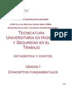 Unidad I - Estadística y Costos 201908