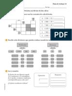 Hoja de Trabajo Matematica. 5 Puntos