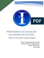 Proyecto Taller ESI - Avalos, Angel Ricardo - Aula HIS-4U-ESI-2020