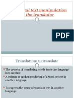 Ideological text manipulation by the translator