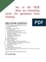 Brainwashing - Washing off society's specious values