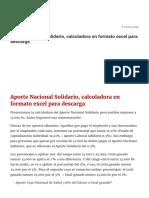 Aporte Nacional Solidario
