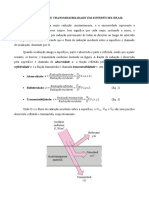 Trabalho TransCal - Radiação (Absorção. reflexão e transmissão)
