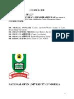 PUL337 - Public Administrative Law