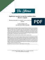 Significação e paradoxo na interface semântica, léxico,  discurso e cognição