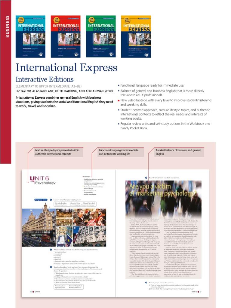 Oxford Business English International Express Elementary Pdf Files
