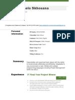 CV Of Tumelo Skhosana.pdf