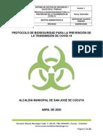 00 PROTOCOLO DE BIOSEGURIDAD ALCALDIA 2020