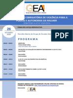 Programa da Reunião Aberta_Temas em Justiça Reprodutiva_A Comunicação Obrigatória de Violência para a Polícia e a Autonomia da Mulher – Debatendo a Lei Nº 13.931_2019