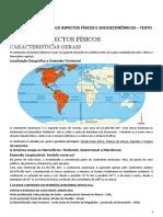 TEXTO - AMÉRICA ASPECTOS FÍSICOS E SOCIOECONÔMICOS