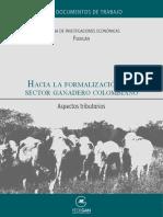 Hacia la formalización del sector ganadero colombiano