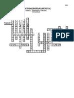 Solución crucigrama en Lírica de Literatura Española Medieval