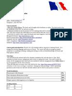 french 101 syllabus en ligne