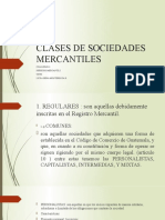 CLASES DE SOCIEDADES MERCANTILES