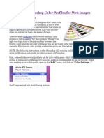 How to Use Photoshop Color Profiles for Web Images – proof colour