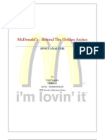 mcdonald swot analysis