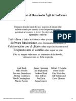 Manifiesto por el Desarrollo Ágil de Software