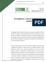 el imaginario cultural como instrumento social