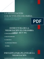 LA NEGOCIACIÓN COLECTIVA - ESTRUCTURA