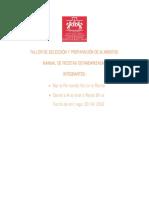 MANUAL DE RECETAS ESTANDARIZADAS- TALLER DE SELECCIÓN Y PREPARACIÓN DE ALIMENTOS