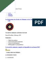 DECLARATION DES DROITS DE L'HOMME 1