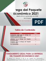 Documento Entrega Del Paquete Económico 2021.