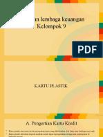 bank dan lembaga keuangan - kartu plastik