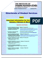 CS Course details with Cut off dates details fees exemption de nova registration timelines & all about Company Secretary ACS Foundation Executive Professional Programme exams (what, how, when) E Bulletin Jan 2011 of ICSI