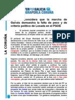 Carlos Negreira. Valoración sobre la lista del PSOE.25/01/2011