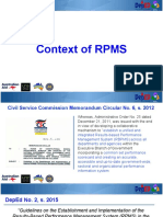 Context of RPMS