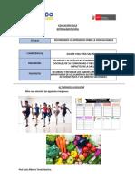 PRACTICAMOS ACTIVIDAD FÍSICA E IDENTIFICAMOS ALIMENTOS NUTRITIVOS (retroalimentación)