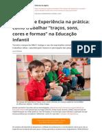 """Campos de Experiência na prática como trabalhar """"traços, sons, cores e formas"""" na Educação Infantil"""