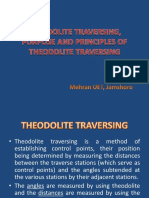 Theodolite traversing, purpose and principles of theodolite traversing