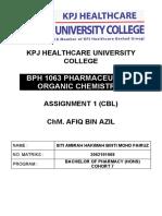 CBL Assignment Organic Chemistry