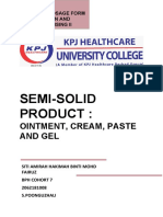 Activity 1 - Semi Solid Products - Siti Amirah Hakimah Binti Mohd Fairuz (2062191008(