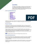 Server 2003 Roles