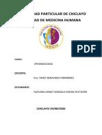 informe epidemiología