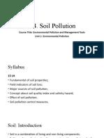1.1. fundamentals of soil pollution