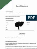Coastal Ecosystems Revision