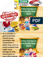 Safety Pointers in Electronics Shop Work