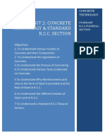 TOS 4 Unit 2 Concrete Technology & Standard R.C.C Section-1-1