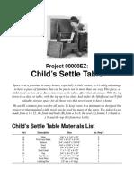 Woodworking plans - settletable.pdf