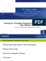 O Training for Unreliable Airspeed Indications High Altitude Operations