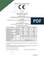 DECLARAÇAO DE DESEMPENHO SR20A14 POLISUR